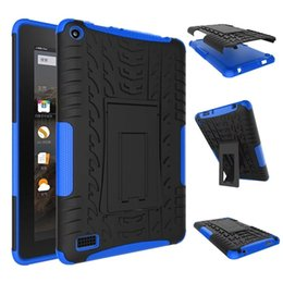 Wholesale Tablet Cases Kindle Fire - combo cases for Kindle Fire HD8 2016 HD8 2017 HD7 2015 dazzle tablet pc hybrid case TPU + PC back cover