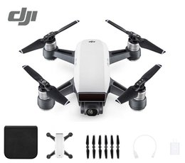 Wholesale Aerial Film - 2018 New DJI Spark Mini Camera Drones Combo Simple Control Aircrafts GPS Aerial Filming sUAV Quadcopters Multicopters Helicopter Toy Gift