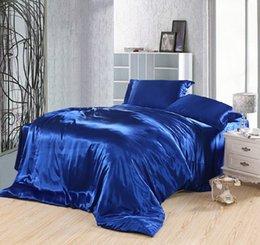 2019 роз кинг-сайз Королевский синий комплект постельного белья шелковые встроенные простыни сатин супер королева размер пододеяльник пододеяльник двойные покрывала doona 4шт 6шт