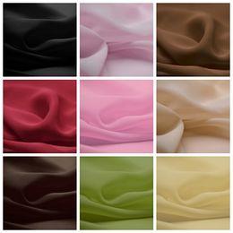 Wholesale Weaving Warp - 5Yard 75D Chiffon Wedding Dress Fabric 59 Inch Width Custom Length Swatch Sample Chair Sash Material Wholesale Chiffon Fabric Sheer