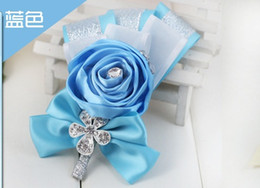 Wholesale Groom Brooch Boutonniere - Free shipping European DIY wedding the bride and groom wedding brooches  Personality customization brother rose boutonniere