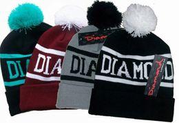 Wholesale Diamond Supply Hats Wholesale - 2015 sale fur hats for women Hip Hop Diamond Supply Co Beanie wool knit cap mix order