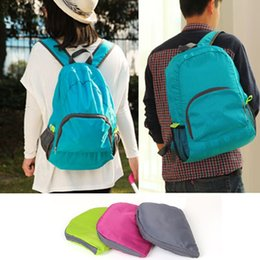 Wholesale Vaccum Cleaners - Universal Sports Backpack Portable Foldable Knapsack Easy To Clean For Men And Women Storage Bag Top Quality 8xt B