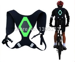 Wholesale New Invention Led - 2014 new invention safety harness with LED light+EL reflective running safety jacket vest Free shipping sport safety harness A3*