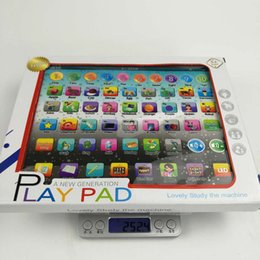 Wholesale Laptop Toy Ipad - Newest Touch Screen Large Size LED IPAD English Learning Laptop Computer Game Music Phone Learning Machine Kids Educational Tablet Toy