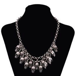 Wholesale Cheap Korean Fashion Free Shipping - valentine's gift Korean Fashion wholesale cheap vintage skull quality choker necklace for women free shipping N344