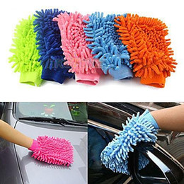 Wholesale Microfiber Sponge Cloth - Car Hand Soft Cleaning Towel Microfiber Chenille Washing Gloves Coral Fleece Anthozoan Car Sponge Wash Cloth Car Care Cleaning