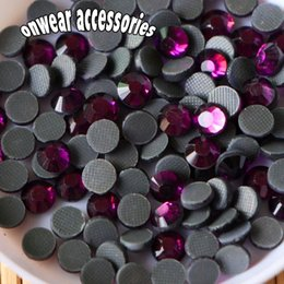 Wholesale Hotfix Ss16 Amethyst - (1440 pieces lot) ss16 amethyst dmc hotfix crystal strass diy iron on hot fix glass rhinestones