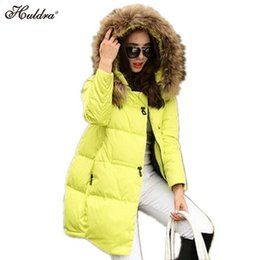 Wholesale Long Down Jacket Xs - Wholesale- 1PC 2017 Winter Jacket Women Cotton Padded Winter Coat Women Parka Thick Fur Hood Plus Size Jaqueta Abrigos Mujer Q006