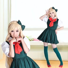 Wholesale Cheap Custom Costumes - Cheap Super Danganronpa 2 Anime Cosplay Costumes Danganronpa 2 Sonia Nevermind Cosplay Dresses Japanese Cosplay Dress For Lady