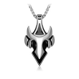 Wholesale Tiger Tooth - Men's vintage wolf and tiger tooth shape stainless steel pendants fashion titanium steel pendant necklaces jewelry accessories