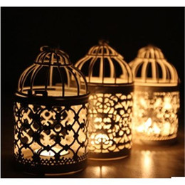 Wholesale Wholesale Wedding Bird Cages - 2PCS New 2015 Bird Cage Decoration Candle Holders Wedding Supplies Home Decorations
