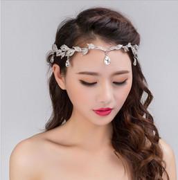 Wholesale Hairs Sticks - 2016 Luxury Bridal Tiara Hair Crown Forehead Crystal Wedding Accessories For Hair Bohemain Bridal Headpieces In Stock