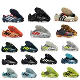Wholesale Messi Shoes Red - New 2018 100% Original Nemeziz Messi 17.1 FG Soccer Shoes Mens Football Shoes Nemeziz 17+ 360 Agility FG Soccer Boots Soccer Cleats