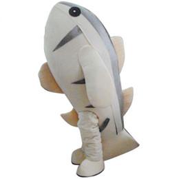 Disfraz de mascota de tiburón adulto online-Traje de la mascota de tiburón ballena de dibujos animados traje de tamaño adulto disfraces gran FT10103