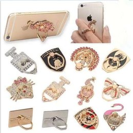 Wholesale Unique Fashion Rings - Ring Phone Holder Unique Mix Style Cell Phone Holder Fashion for iphone 8 7 6s Samsung S8 cellphone stand with retail package