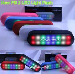 Wholesale Universal Center - BT808NL New Pill 2 Mini Portable Wireless Bluetooth Speaker With Pulse LED Liht Flash Pill XL Speaker Bulit-in Mic Handsfree BT808L V318 Too
