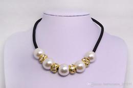 fascini del rhinestone della resina prezzi - Collana chunky della collana grande del Rhinestone della perla della resina di trasporto libero di fascino delle donne di fascino Nx0001