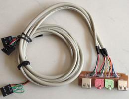 Écouteurs de câble de bricolage en Ligne-NOUVEAU PC Ordinateur de bureau DIY hôte cas Avant I / O Panneau USB 2.0 AUDIO Micro MicroPhone casque 3.5mm prise câble cordon Livraison gratuite