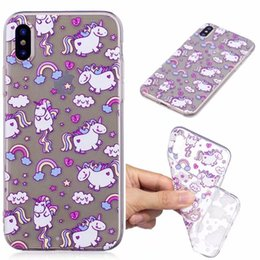 Wholesale Case Iphone Panda Pink - Alpaca Koala horse Bear Sea lions Panda Deer case Cover For Iphone X SE 5 5S 6 6s 7 8 Plus IMD Clear TPU Silicone cases