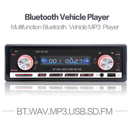 Wholesale 12v Usb Port - 12V Car Radio MP3 Player In-dash FM Receiver Bluetooth Auto Radio Car Stereo Audio with USB Port Aux Input Remote Control CAU_01L