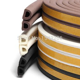 Wholesale Rubber Seal Stripping - 1pc 5m Self Adhesive D Type Doors and for Windows Foam Seal Strip Soundproofing Collision Avoidance Rubber Seal Collision small order no tra