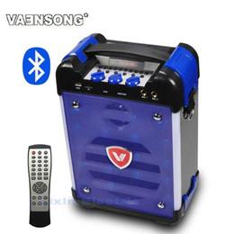 Wholesale High Power Led Lantern - Wholesale- VAENSON K6 High-Power HiFi Portable Bluetooth Speaker Subwoofer Supports USB Disks And Microphone Has FM Radio LED Lantern Blue