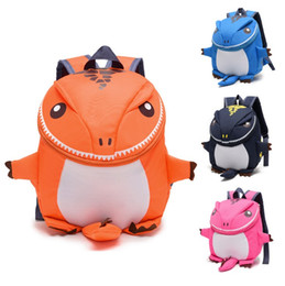 Wholesale Dinosaur School Backpacks Kids - 4 Color The Good Dinosaur kids backpack Cartoon Arlo Anti Lost kindergarten girls boys children backpack school bags animals dinosaurs snack