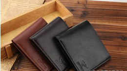 Wholesale Credit Card Purses - 2015 Hot-selling! Crazy Mens Wallets For Men Designer Brand Purse Small Man Wallet Mens Coin Purse
