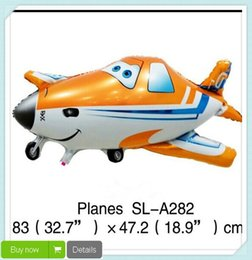Wholesale Helium Balloon Cartoons - Free Shipping Cartoon Agricultural Duster Planes Dusty Aluminium Foil Balloons Helium Ballon Kids Baby Birthday Gifts JIA075