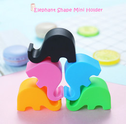 Wholesale Mixing Desks - Mini Phone Holder For iPhone X 8 6 7 Samsung S8 Cute Elephant Shape Universal ABS Desk Phone Holder Stand Support Bracket