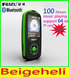 Wholesale High Quality Screen Recorder - 2015 New Original RUIZU X06 Bluetooth Sport MP3 music Player with 1.8Inch Screen 100hours high quality lossless Recorder FM