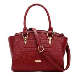 Wholesale Crocodile Hobo Bag - 2016 new fashion shoulder bag kangaroo Crocodile handbag Scarecrow simple portable Shoulder bag Satchel handbag Free shipping
