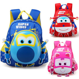 Wholesale Action Figure Bags - 2017 Limited Anime Robot Body Backpack Toys & Hobbies Baby Kindergarten Study Stationary Super Wings Action Figure School Bag