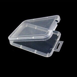 Wholesale Wholesale Clear Candy Boxes - 5.2cm*4.2cm*0.7cm Storage Card Box Durable Plastic Clear Organizer Reusable Resistance To Fall CF Cards Boxes 0 14cr B