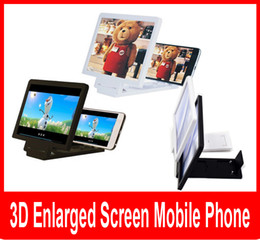 Wholesale Video Display Glasses - New 3D Enlarged Screen Glass Amplifier Eyes Display F1 3D Video Folding Holder Stand Magnifying for Mobile.