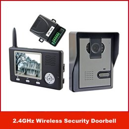 "Wholesale Home Video Door Phone - New Brand 2.4GHz Wireless 3.5"" Color Video Door Phone Intercom Home Security Doorbell free shipping"