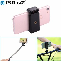 Wholesale Clamp For Iphone - Selfie Sticks Tripod Mount Phone Clamp with 1 4 Inch Screw Hole for IPhone, Samsung, HTC, Sony, LG and Other Smart Phones
