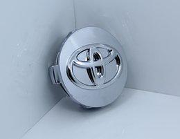 Wholesale Toyota Reiz Chrome - ABS chrome 62mm Chrome Toyota Carolla Reiz Wheel Center Hub Caps Cover Free Shipping