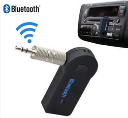pontos de áudio Desconto Universal 3.5mm Streaming Car A2DP Sem Fio Bluetooth AUX Receptor de Música de Áudio Adaptador Handsfree com Microfone Para O Telefone MP3 100 pcs up