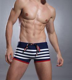 Wholesale Swimsuit Body Short - brand swimwear men 2015 new arrivals man boxer Fashion Men's swimming trunks Sexy Navy style swimming shorts for men Swimsuit