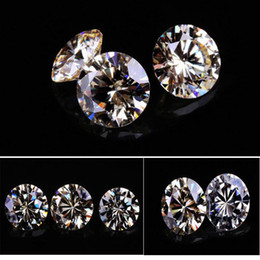Wholesale synthetic gems wholesale - 200psc Lot High Quality AAA Clear Cubic Zirconia Synthetic Gems Loose Stone For Jewelry 5.25-8mm