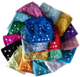 Wholesale Inserts For Aio Diapers - Free Shipping 2015 Hot Sell Plian Soild Cloth Diapers Nappies Washable Reusable All In One Size Without insert 24 Color For Choosen
