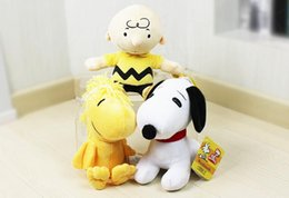 Wholesale Peanuts Christmas Figures - Snoopy Plush Toys Peanuts Comics Charlie Brown Dolls lovely Woodstock Plush Stuffed Dolls Kids Christmas gift