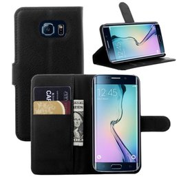 Wholesale Men Flip Phone - Leather Case for Samsung galaxy S6 edge A3 A5 G360 Card Holder Stand Design Wallet Flip Cover Business Man Mobile Phone Bag
