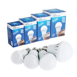Wholesale Lamp Automatic Bedroom - Edison2011 LED Bulbs E27 Globe Bulbs Lights 5W 7W 9W 12W Manual Automatic Control 180 Degree Light Street Vendors Use Emergency Lamp