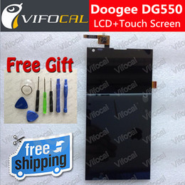 Дигитайзер экрана сотового телефона онлайн-Wholesale-DOOGEE DG550 Screen + LCD Display + Free Torx tools 100% Original Touch Digitizer Assembly Replacement For Dagger Cell Phone