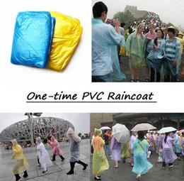 Poncho di plastica monouso monouso online-Hot One-time impermeabile Poncho monouso Rainwear Travel Rain Coat Rain Wear adulto Siamese creativo trasparente PVC impermeabile di plastica portatile