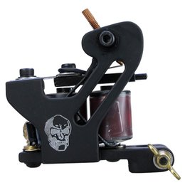 Wholesale Gun Skull Tattoos - Solong Tattoo Cheap Pro Handmade Coil Tattoo Machine Guns Black Skull Taty Machine M8716