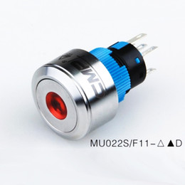 Wholesale Stainless Push Switch - High quality CE TUV 22MM metal Stainless steel anti vandal momentary push button 12v 24v illuminated Latching on off elevator light switch